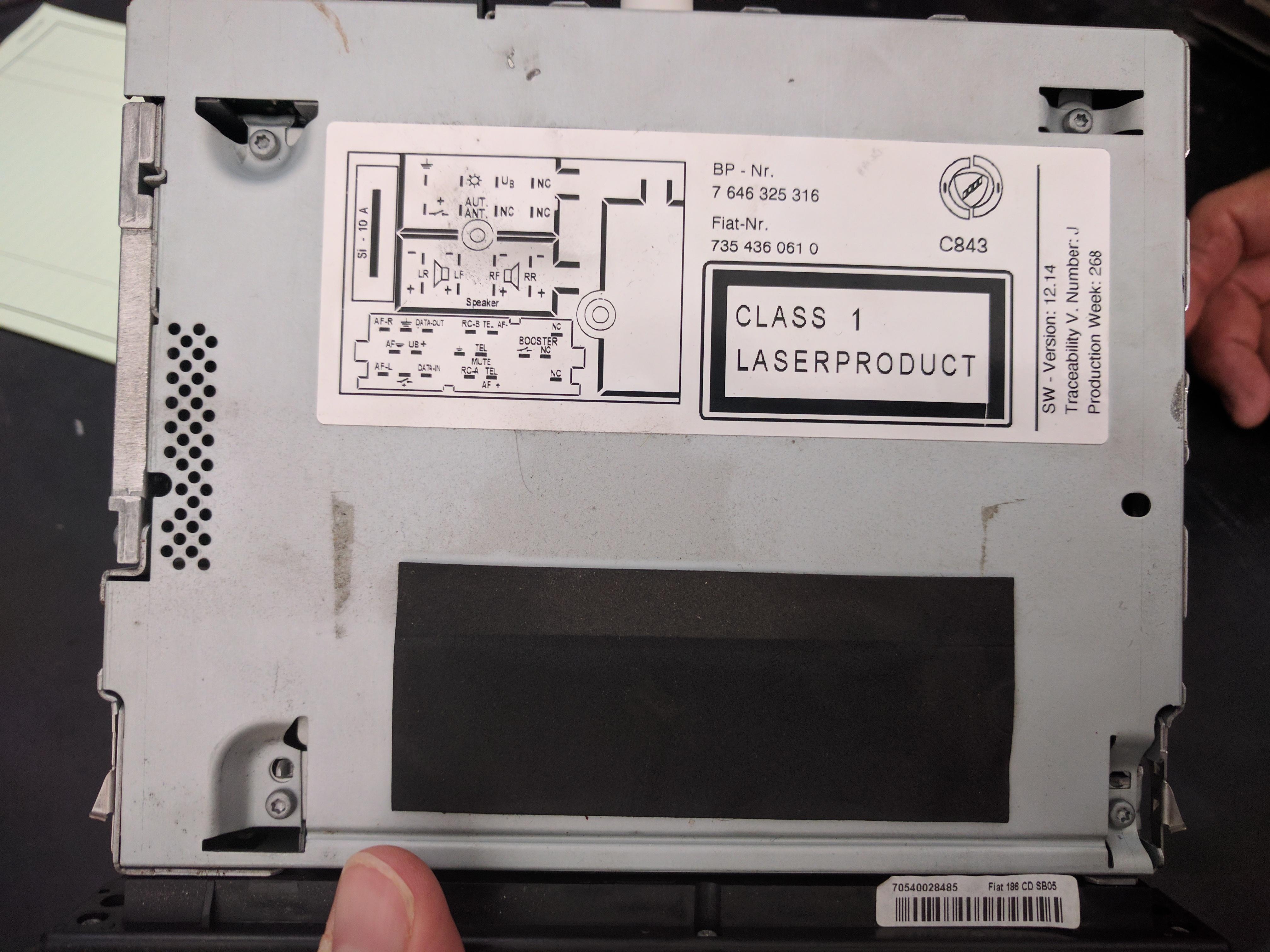 Codice Sblocco Radio Fiat Panda.Codice Sblocco Autoradio Fiat Multipla Codice Radio Etp